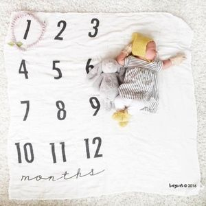 NEW Monthly Milestone Blanket Swaddle Blanket